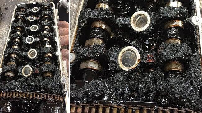 Быстро чернеет масло в двигателе причины