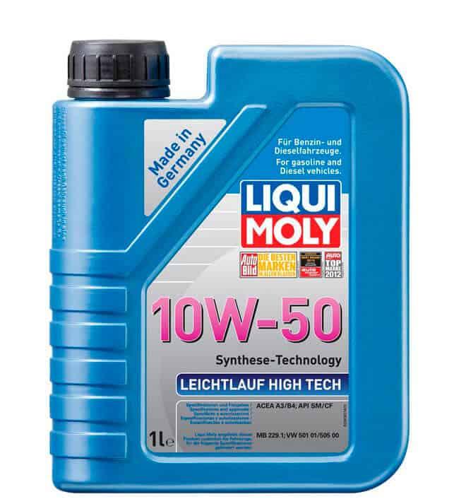Характеристики моторных масел 10w50
