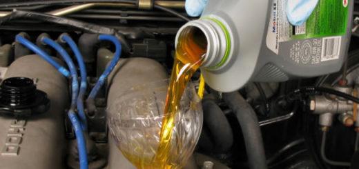 залить дизельное мерседесовское масло в ока