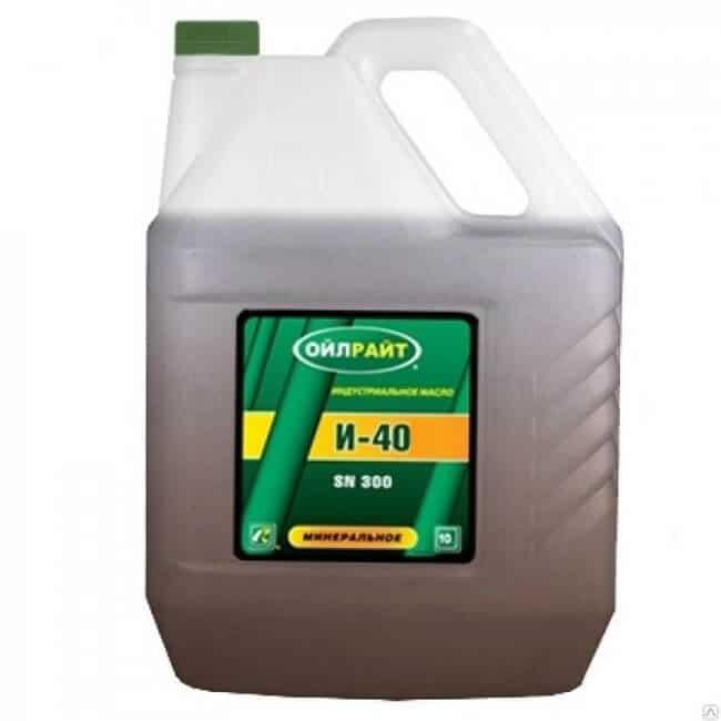 Свойства и область применения масла И-40